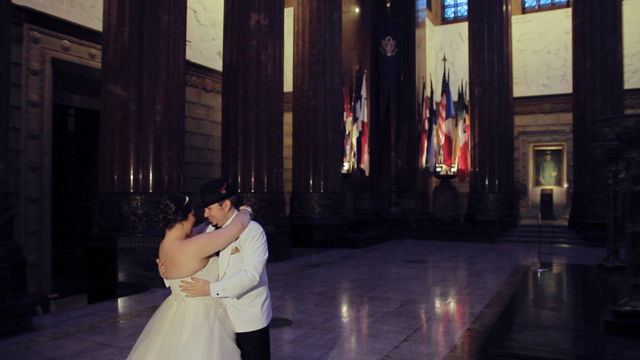 indiana war memorial wedding